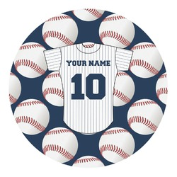Baseball Jersey Round Decal - Custom Size (Personalized)