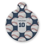 Baseball Jersey Round Pet Tag (Personalized)
