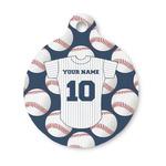 Baseball Jersey Round Pet ID Tag (Personalized)