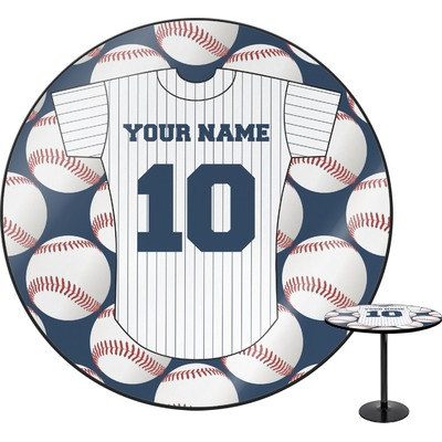 Baseball Jersey Round Table (Personalized)