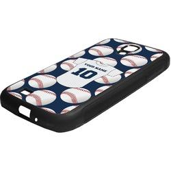 Baseball Jersey Rubber Samsung Galaxy 4 Phone Case (Personalized)