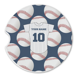 Baseball Jersey Sandstone Car Coaster - Single (Personalized)