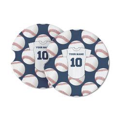 Baseball Jersey Sandstone Car Coasters (Personalized)