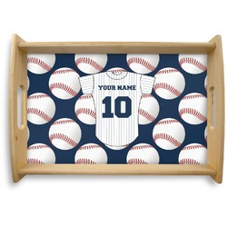 Baseball Jersey Natural Wooden Tray (Personalized)