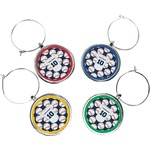 Baseball Jersey Wine Charms (Set of 4) (Personalized)