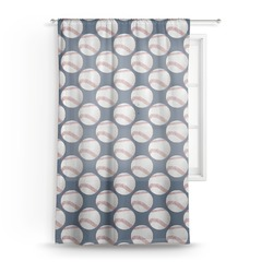 "Baseball Jersey Sheer Curtain - 50""x84"" (Personalized)"