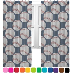 Baseball Jersey Sheer Curtains (Personalized)