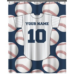 """Baseball Jersey Extra Long Shower Curtain - 70""""x84"""" (Personalized)"""