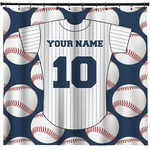 Baseball Jersey Shower Curtain (Personalized)