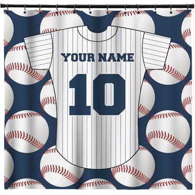 Baseball Jersey Shower Curtain (Personalized)