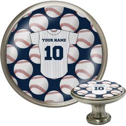Baseball Jersey Cabinet Knob (Silver) (Personalized)