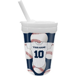 Baseball Jersey Sippy Cup with Straw (Personalized)