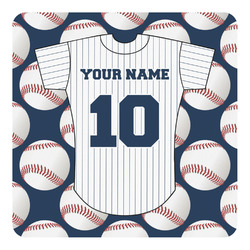 Baseball Jersey Square Decal - Custom Size (Personalized)