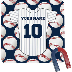 Baseball Jersey Square Fridge Magnet (Personalized)