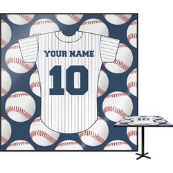 """Baseball Jersey Square Table Top - 24"""" (Personalized)"""