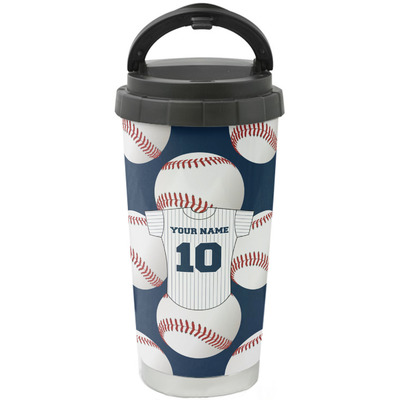 Baseball Jersey Stainless Steel Travel Mug (Personalized)