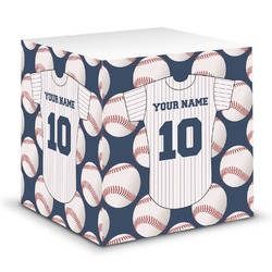 Baseball Jersey Sticky Note Cube (Personalized)
