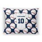 "Baseball Jersey Rectangular Throw Pillow Case - 12""x18"" (Personalized)"