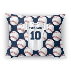Baseball Jersey Rectangular Throw Pillow Case (Personalized)