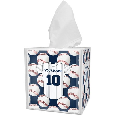 Baseball Jersey Tissue Box Cover (Personalized)