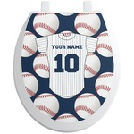 Baseball Jersey Toilet Seat Decal (Personalized)