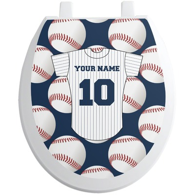 Baseball Jersey Toilet Seat Decal (Personalized)