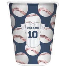 Baseball Jersey Waste Basket - Double Sided (White) (Personalized)