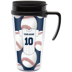 Baseball Jersey Travel Mug with Handle (Personalized)