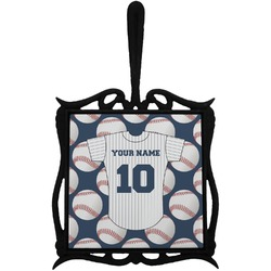 Baseball Jersey Trivet with Handle (Personalized)