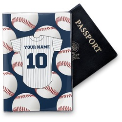 Baseball Jersey Vinyl Passport Holder (Personalized)