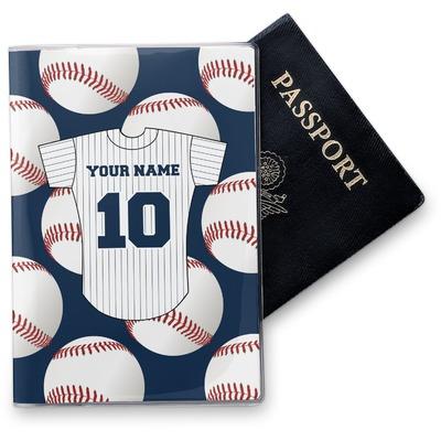 Baseball Jersey Vinyl Passport Holder (Personalized)