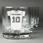 Baseball Jersey Whiskey Glasses (Set of 4) (Personalized)