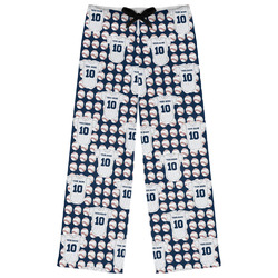 Baseball Jersey Womens Pajama Pants (Personalized)