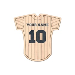 Baseball Jersey Genuine Maple or Cherry Wood Sticker (Personalized)