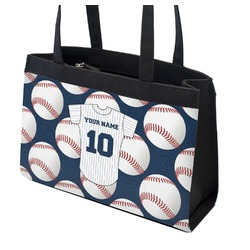 Baseball Jersey Zippered Everyday Tote (Personalized)