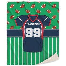 Football Jersey Sherpa Throw Blanket (Personalized)
