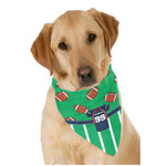 Football Jersey Dog Bandana Scarf w/ Name and Number