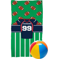 Football Jersey Beach Towel (Personalized)