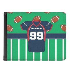 Football Jersey Genuine Leather Men's Bi-fold Wallet (Personalized)