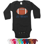 Football Jersey Long Sleeves Bodysuit - 12 Colors (Personalized)