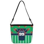 Football Jersey Bucket Bag w/ Genuine Leather Trim (Personalized)