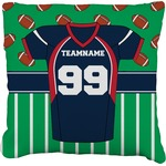Football Jersey Faux-Linen Throw Pillow (Personalized)