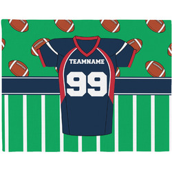 Football Jersey Woven Fabric Placemat - Twill w/ Name and Number