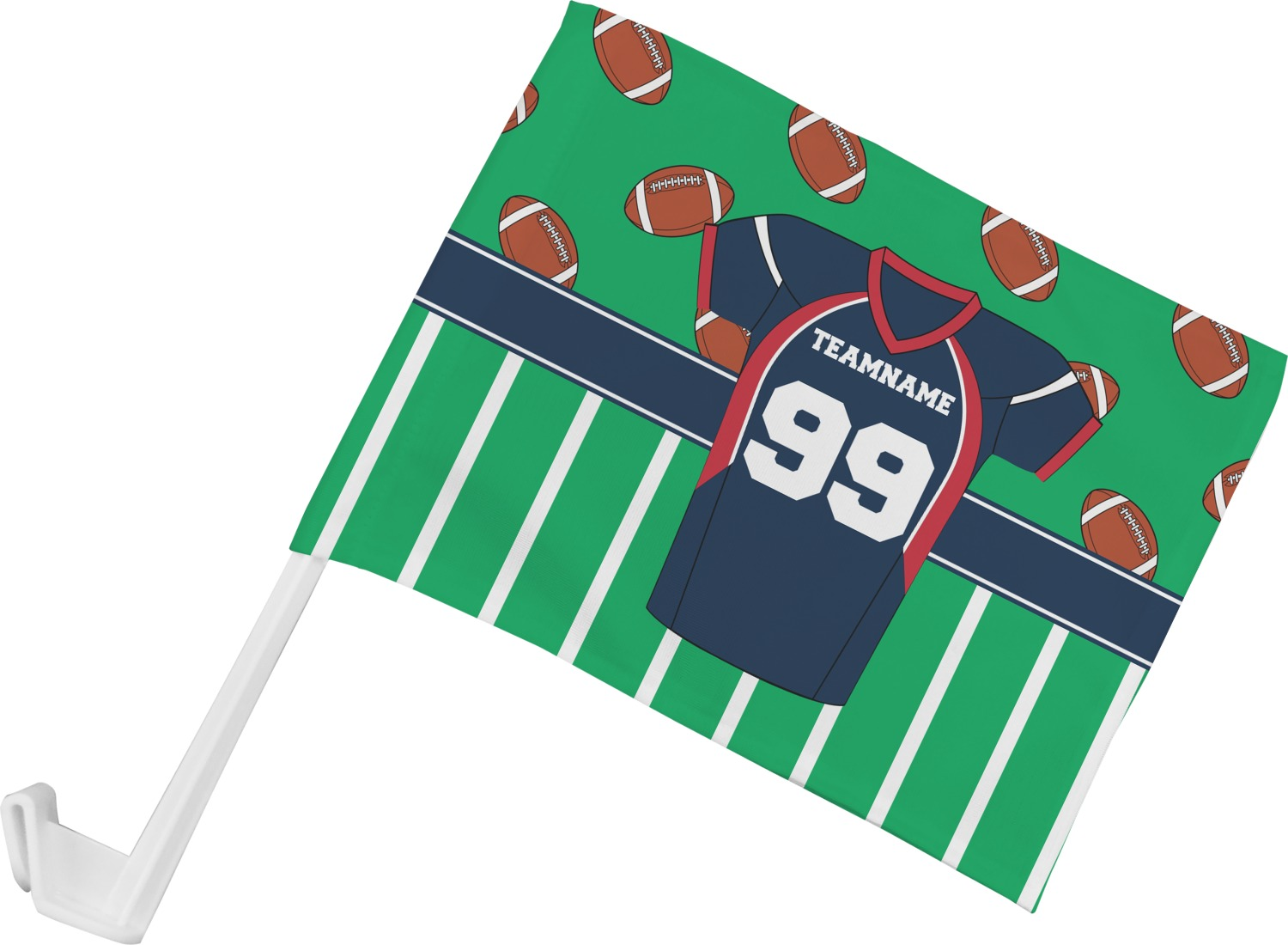 Custom Made Football Jersey Flag Pictures to Pin on ...