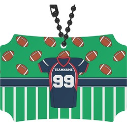 Football Jersey Rear View Mirror Ornament (Personalized)