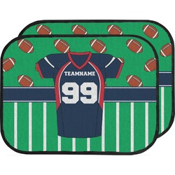 Football Jersey Car Floor Mats (Back Seat) (Personalized)