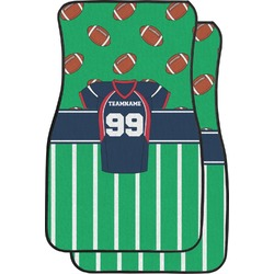 Football Jersey Car Floor Mats (Front Seat) (Personalized)