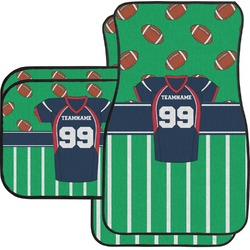 Football Jersey Car Floor Mats Set - 2 Front & 2 Back (Personalized)