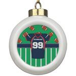 Football Jersey Ceramic Ball Ornament (Personalized)
