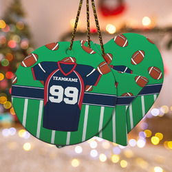 Football Jersey Ceramic Ornament w/ Name and Number